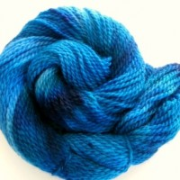 hand dyed yarn blue