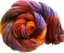 hand dyed yarn autumn color