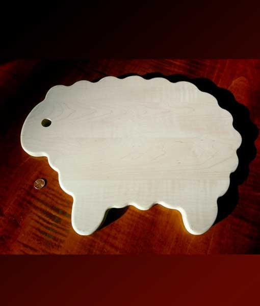 lamb shaped cutting board