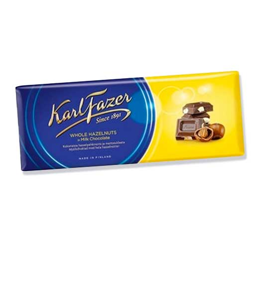 frazer hazelnut milk chocolate bar
