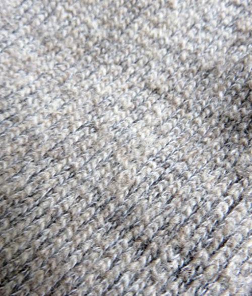Detail of knit on Finnsheep wool socks