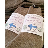 Lots of Finnsheep wool socks