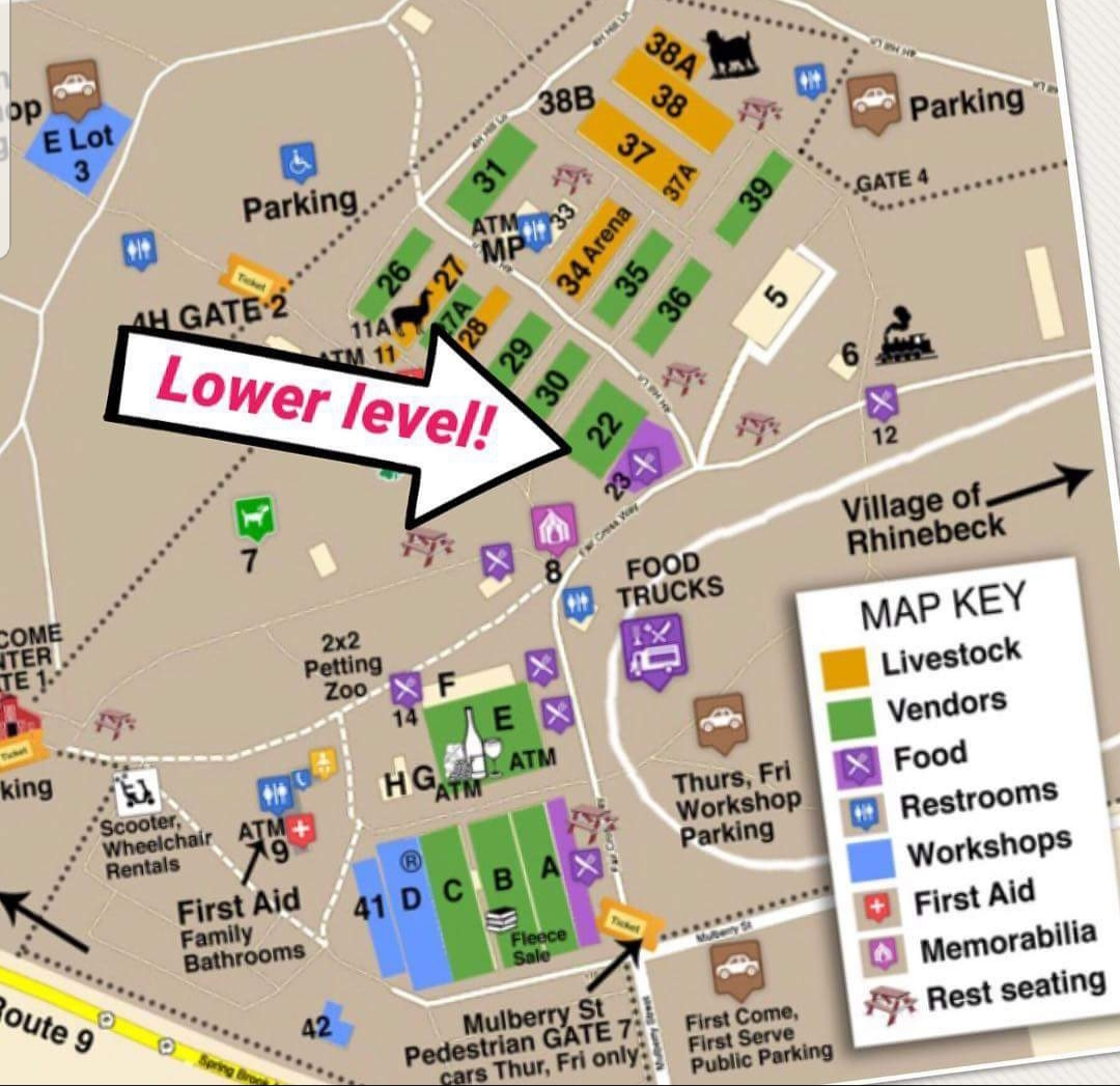 Map of Farmers and Chefs food truck. Area 23