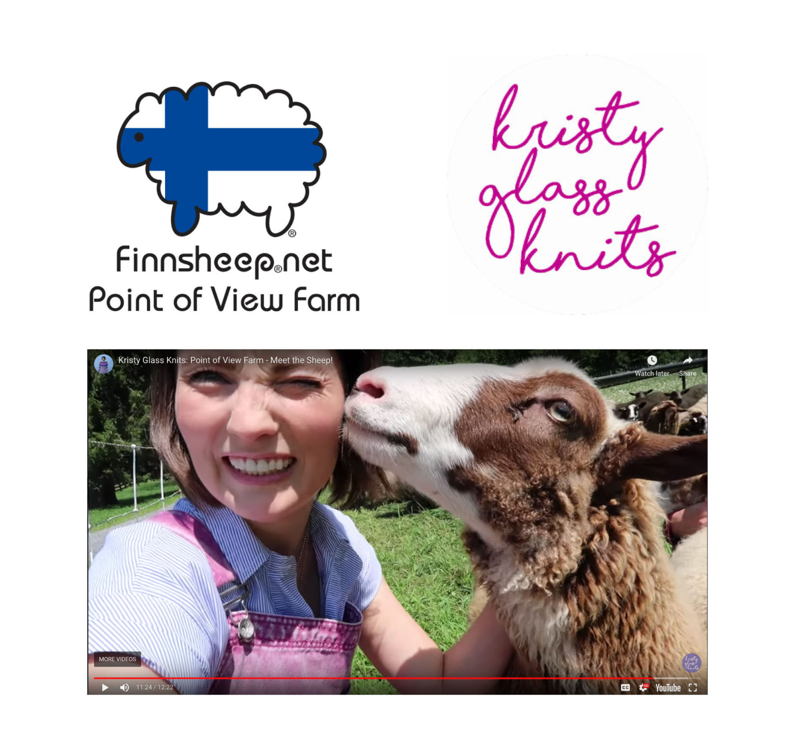 Kristy Glass Knits visits Point of View Farm Finnsheep.net video preview