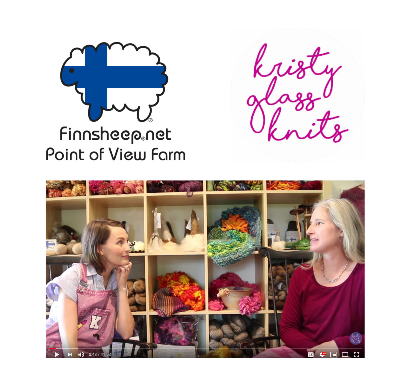 Kristy Glass Knits visits Point of View Farm Finnsheep.net Interview with Cara Leigh Wilson video preview